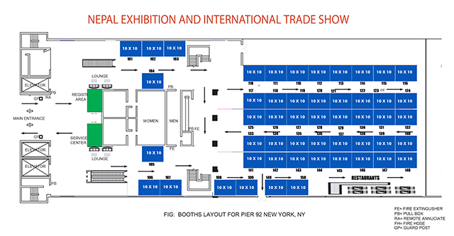 Floor plan nepal exhibition and international trade show for Trade show floor plan design